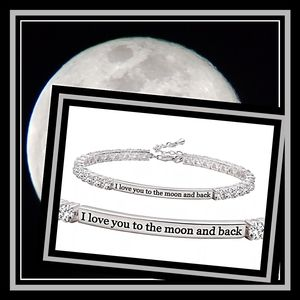 "925 White Sapphire Tennis Bracelet Silver 7.5"""
